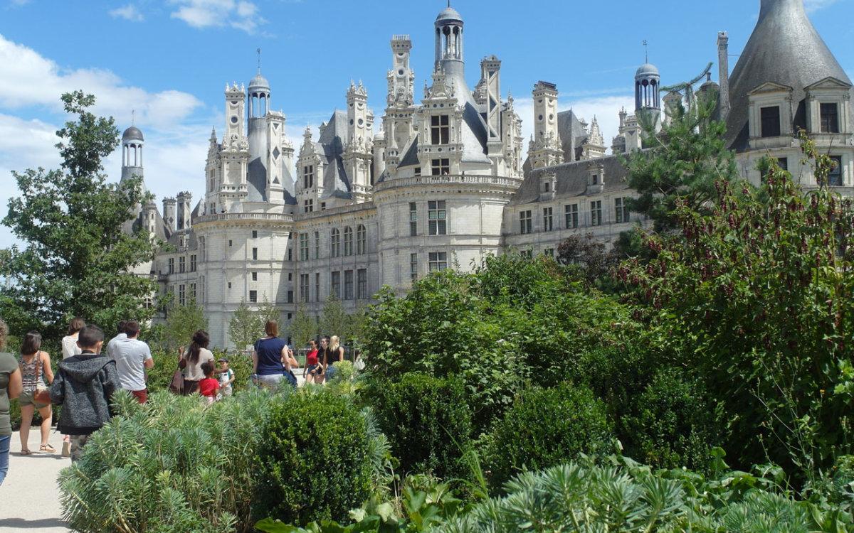 Jardin Anglais près du château de Chambord