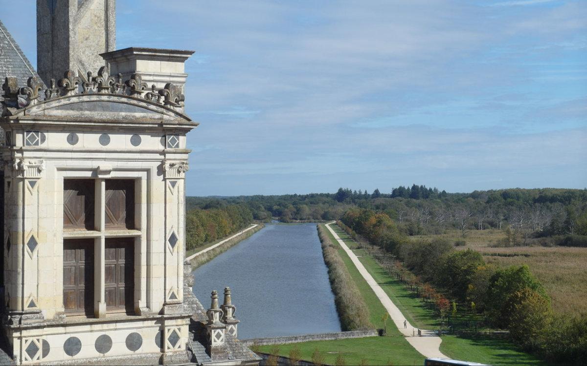 Perspective Grand Canal du haut du château