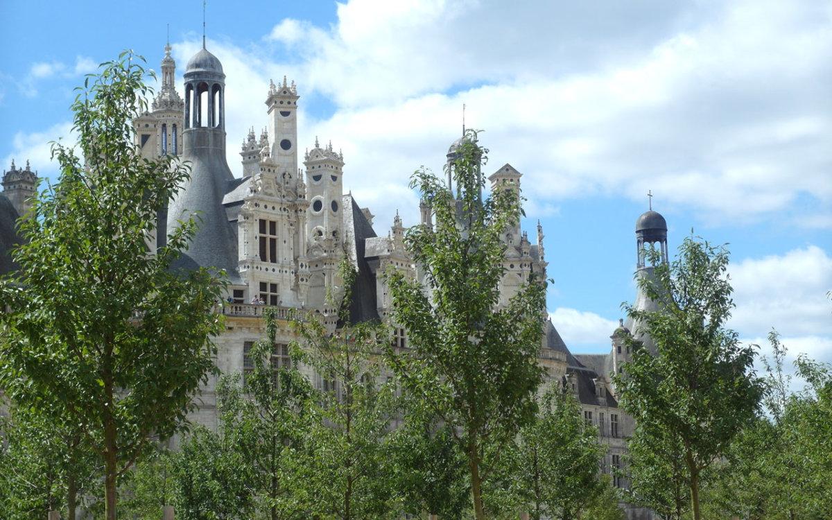 Vue du chateau de Chambord