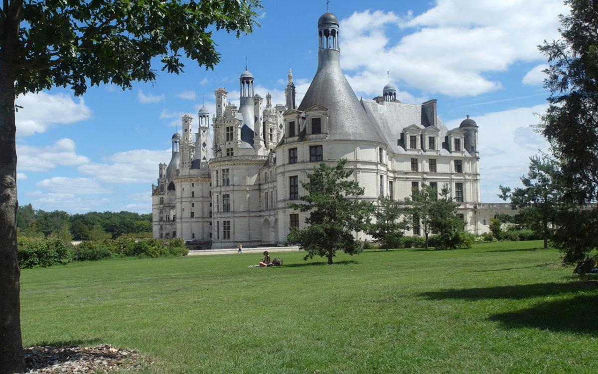 Jardin Anglais sur le coté du château de Chambord